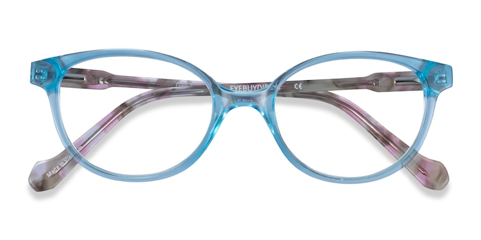 Clear Blue Floral Grenadine -  Acetate Eyeglasses