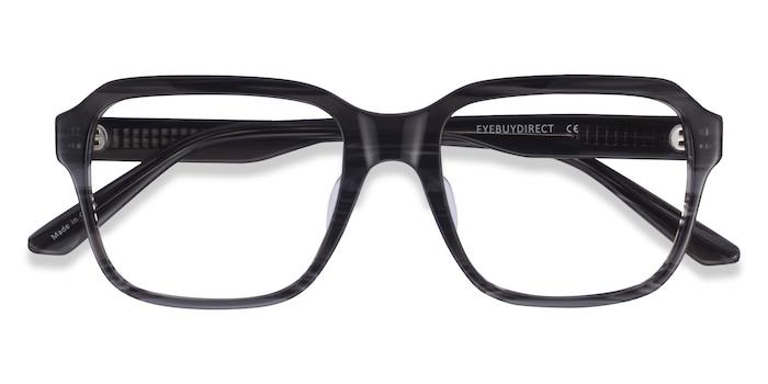 Striped Gray Neat -  Acetate Eyeglasses