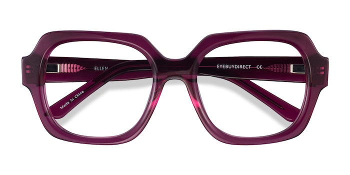 Clear Purple Ellen -  Acetate Eyeglasses