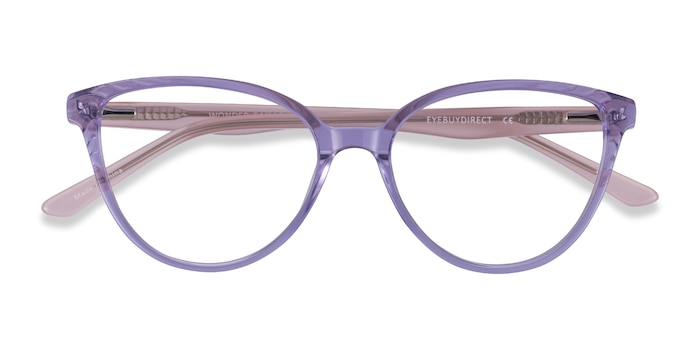 Clear Purple Pink Wonder -  Coloré Acétate Lunette de Vue