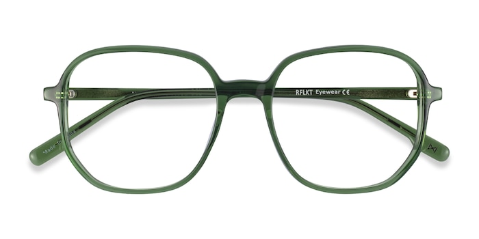 Clear Green Natural -  Fashion Acetate Eyeglasses