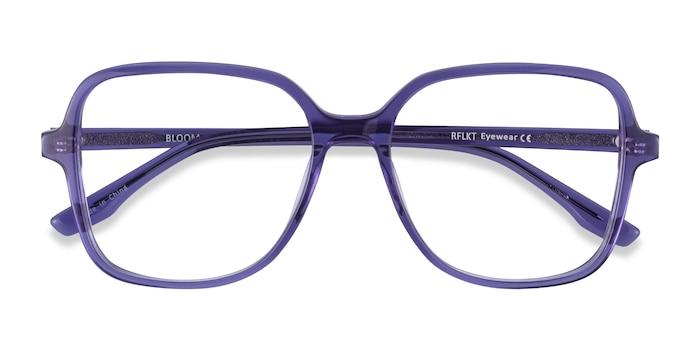 Clear Purple Bloom -  Fashion Acetate Eyeglasses