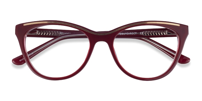 Burgundy Gold Felicity -  Acetate Eyeglasses