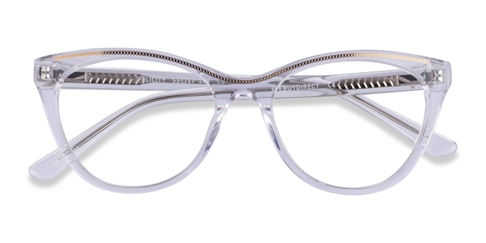 Clear Gold Felicity -  Acetate Eyeglasses