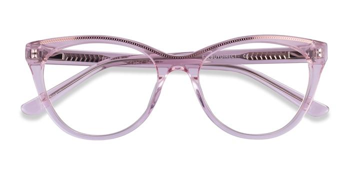 Clear Pink Rose Gold Felicity -  Acetate Eyeglasses
