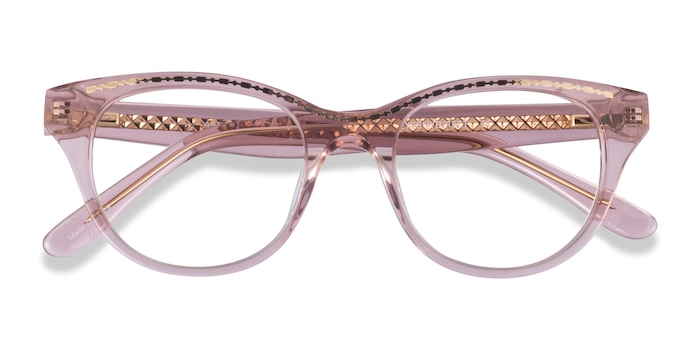 Clear Pink Gold Arcady -  Acetate Eyeglasses
