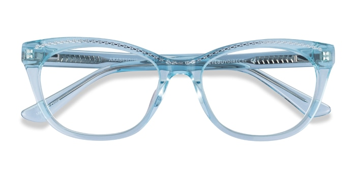 Clear Blue Silver Arabesque -  Acetate Eyeglasses
