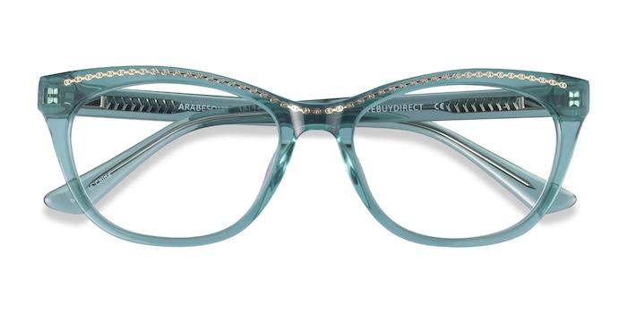 Clear Green Gold Arabesque -  Acetate Eyeglasses