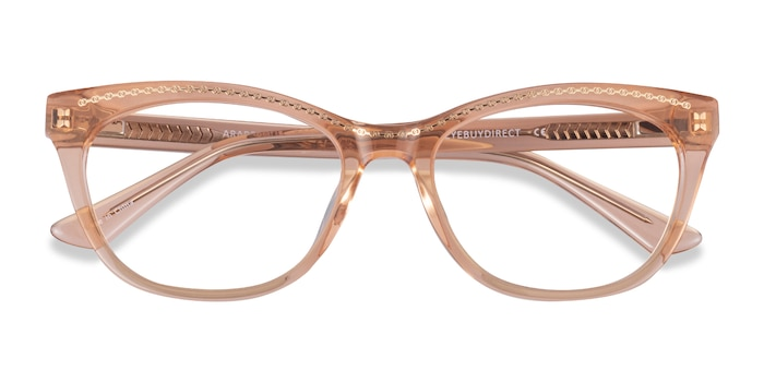 Clear Orange Gold Arabesque -  Acetate Eyeglasses