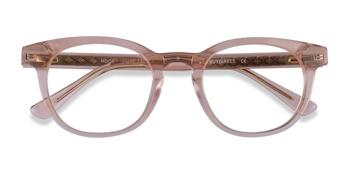 Clear Pink Gold Hoop -  Acetate Eyeglasses