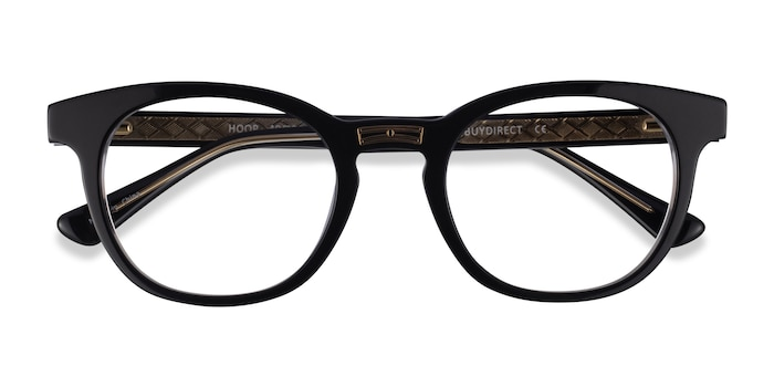 Black Gold Hoop -  Acetate Eyeglasses