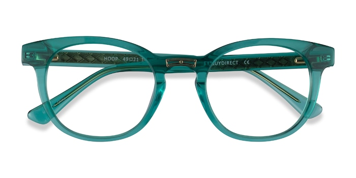 Emerald Green Gold Hoop -  Acetate Eyeglasses