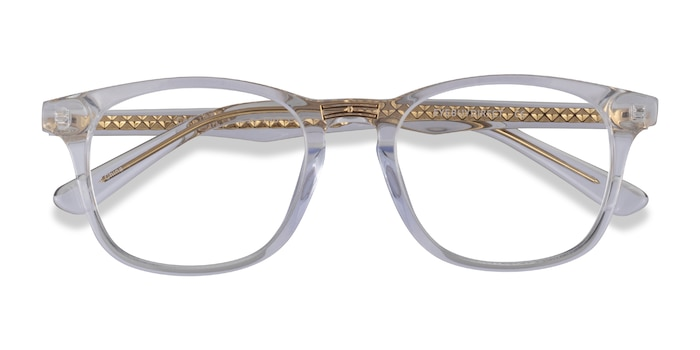 Clear Gold Casting -  Acetate Eyeglasses