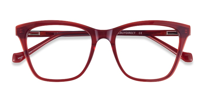 Iridescent Red Luminescence -  Acetate Eyeglasses