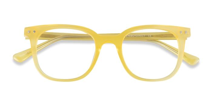 Iridescent Yellow Kaleidoscope -  Acetate Eyeglasses