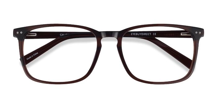 Clear Brown California -  Acetate Eyeglasses