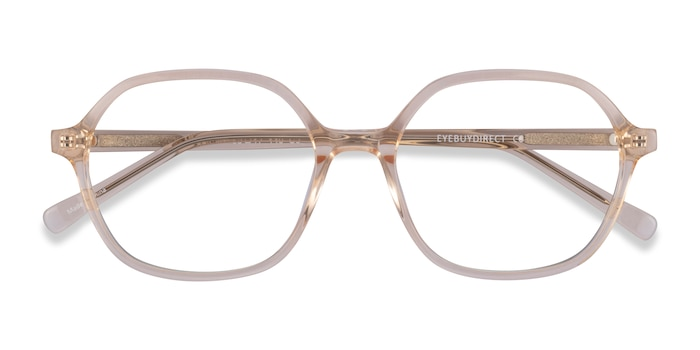 Clear Yellow Pigment -  Acetate Eyeglasses
