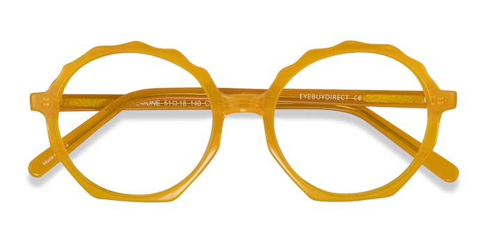 Clear Yellow Anemone -  Acetate Eyeglasses