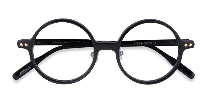 Black Greenwich -  Acetate Eyeglasses