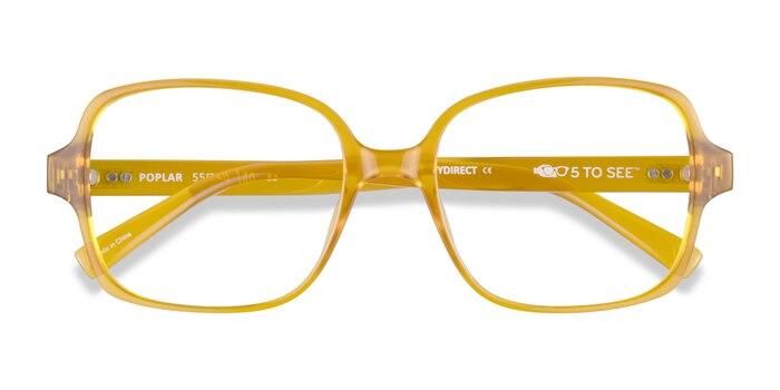 Clear Yellow Poplar -  Plastic Eyeglasses