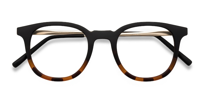 Striped Black Chance -  Vintage Metal Eyeglasses