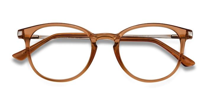 Light Brown Mirando -  Metal Eyeglasses