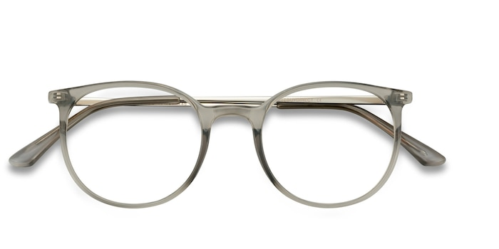Clear Gray Marilou -  Lightweight Metal Eyeglasses