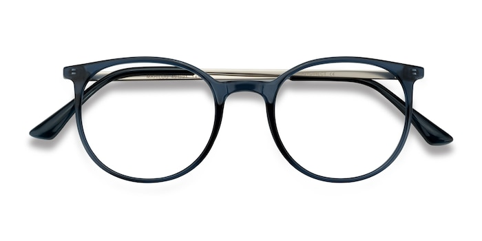 Clear Cobalt Marilou -  Lightweight Metal Eyeglasses