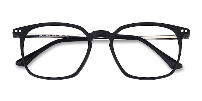 Matte Black Ghostwriter -  Metal Eyeglasses
