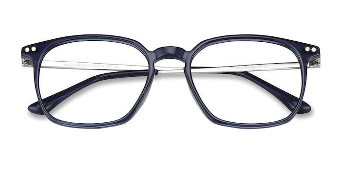 Navy Ghostwriter -  Lightweight Metal Eyeglasses