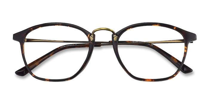 Tortoise Crave -  Vintage Metal Eyeglasses