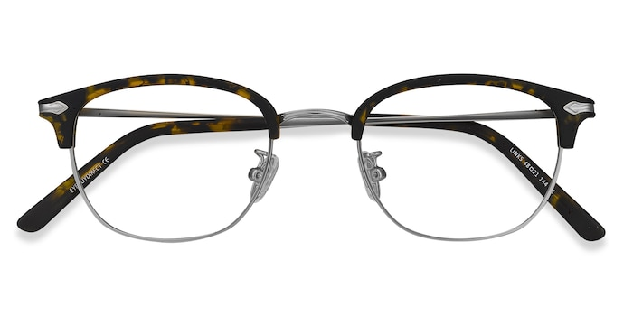 Tortoise Links -  Designer Metal Eyeglasses