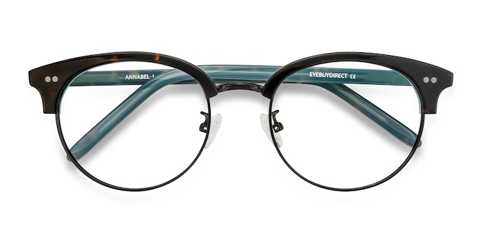 Tortoise Annabel -  Vintage Metal Eyeglasses