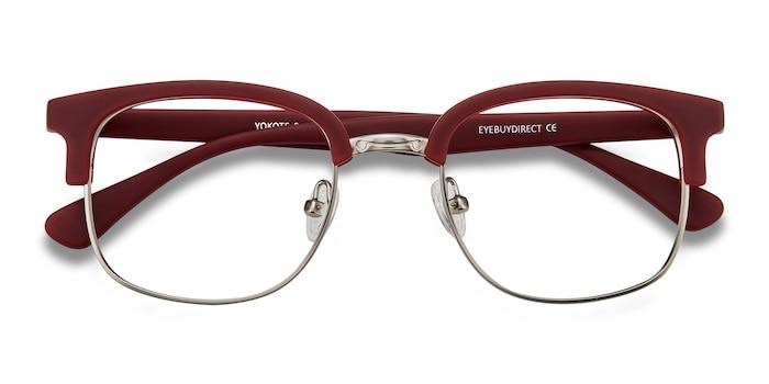 Matte Burgundy Yokote -  Vintage Metal Eyeglasses