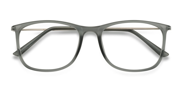 Matte Gray Hurricane -  Metal Eyeglasses