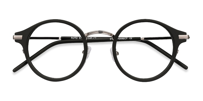 Black Roto -  Colorful Acetate Eyeglasses