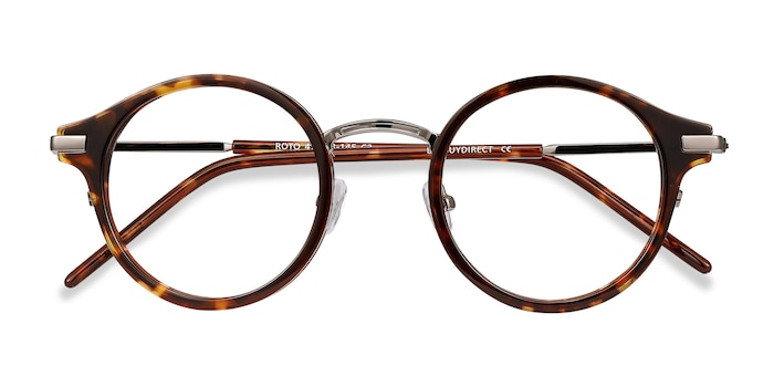 Tortoise Roto -  Fashion Metal Eyeglasses