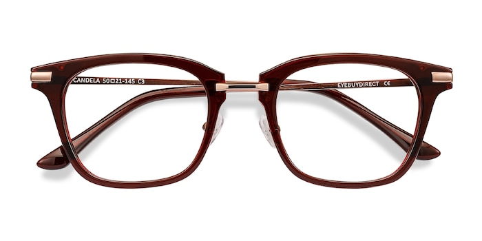 Burgundy Candela -  Metal Eyeglasses