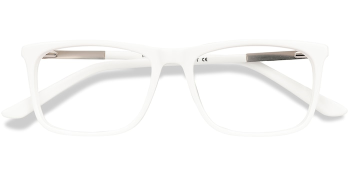 White Instance -  Lightweight Acetate, Metal Eyeglasses