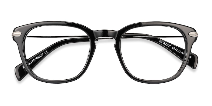 Black Quazar -  Metal Eyeglasses