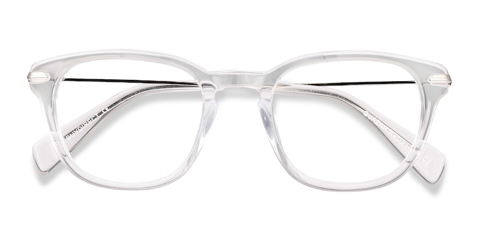 Clear Quazar -  Acetate, Metal Eyeglasses