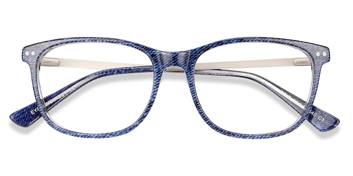Blue Grid -  Acetate Eyeglasses