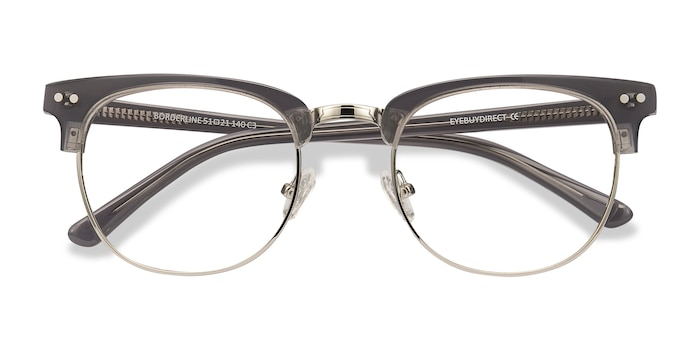 Gray Borderline -  Classic Metal Eyeglasses