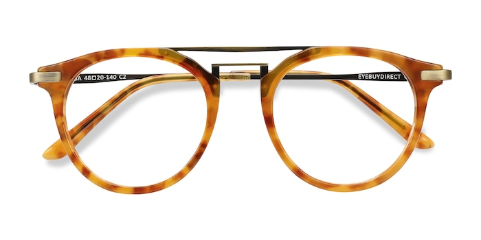 Light Tortoise Alba -  Metal Eyeglasses