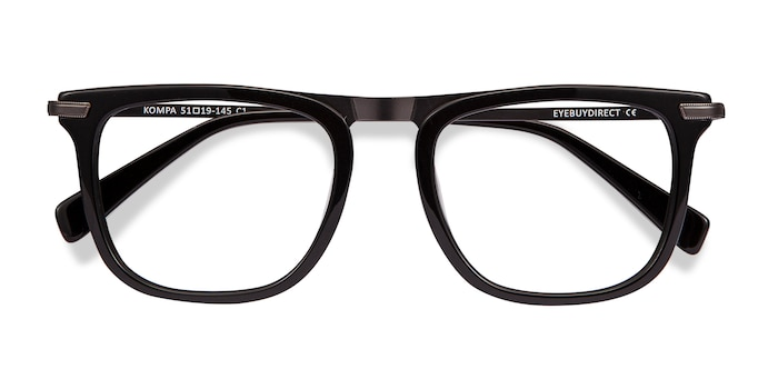 Black Kompa -  Metal Eyeglasses