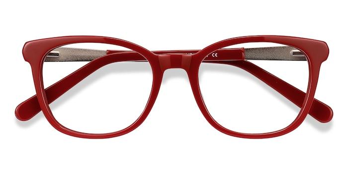 Burgundy Kat -  Metal Eyeglasses