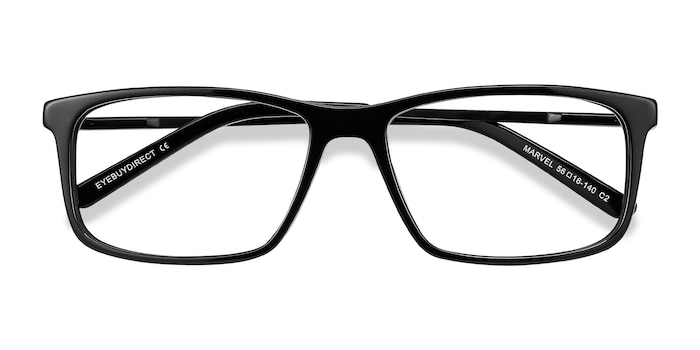 Black Marvel -  Metal Eyeglasses