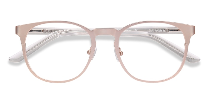 Rose Gold Resonance -  Colorful Metal Eyeglasses
