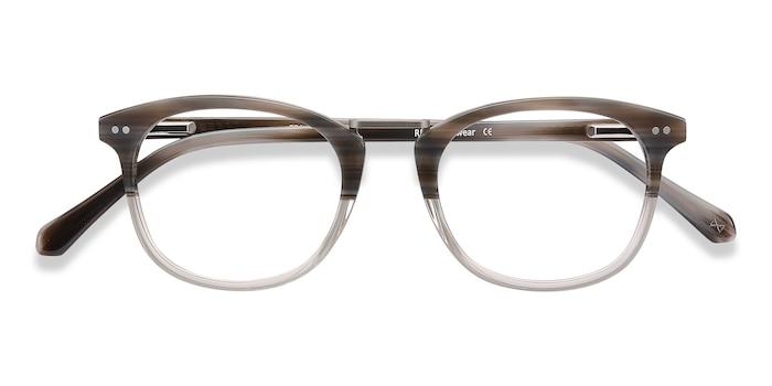 Gray Striped Era -  Designer Metal Eyeglasses