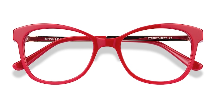 Red Ripple -  Vintage Acetate Eyeglasses